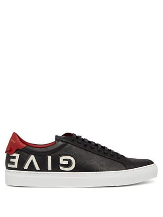 d562ab49ea1 Givenchy Urban Street Low Top Leather Trainers - Mens - Black Red