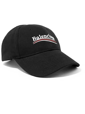 8b6462c8232e Balenciaga Embroidered Cotton-twill Baseball Cap - Black