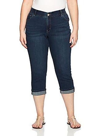 06988b69 Lee Womens Plus-Size Midrise Total Freedom Kilee Capri Jean, Royal Chakara,  24W