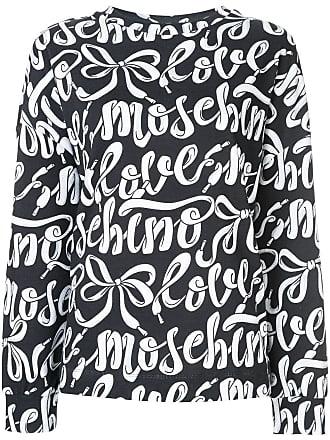 Love Moschino shoelace logo print sweatshirt - Blue