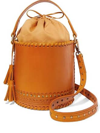 Ulla Johnson Andra Embellished Leather Bucket Bag - Yellow