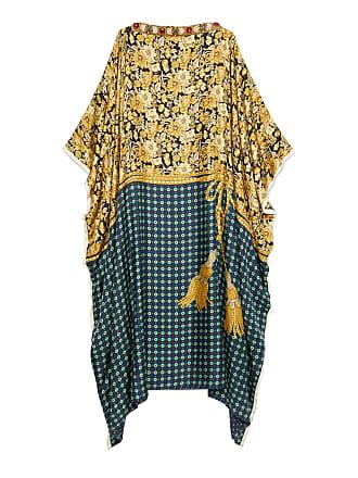 Gucci Vestido Túnica Extragrande Flores Borlas 181ec46f51f