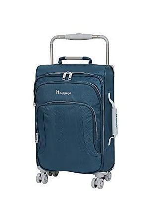 IT Luggage IT Luggage 22 Worlds Lightest 8 Wheel Spinner, Ashes with Vapor Blue Trim
