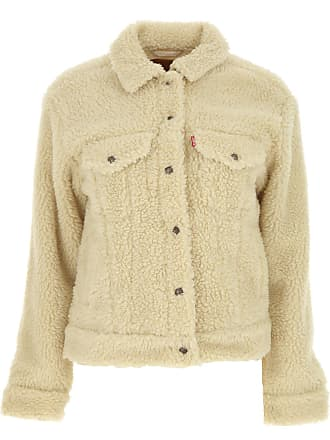 Levi's Jacket for Women On Sale in Outlet, Beige, polyester, 2017, 6 8