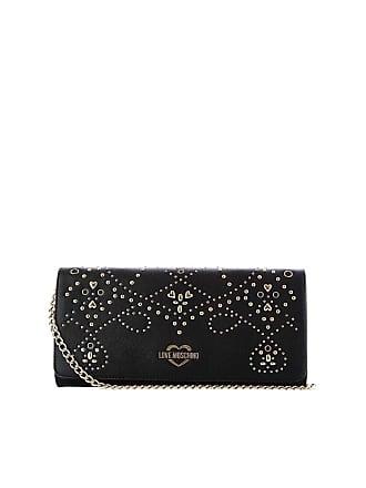 5b4c8c75847 Love Moschino Black clutch bag with decorative studs