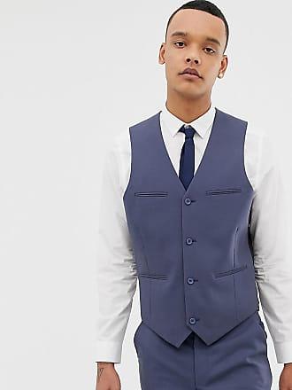Asos Chaleco de traje de corte slim en azul pizarra de ASOS DESIGN Tall f1c9b903a7d