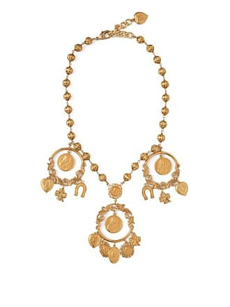 ae4d57a51c6 Dolce   Gabbana Cameo And Good Luck Charm Necklace - Womens - Gold