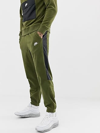 7d3ddeee4ba9 Nike Borg Joggers With Side Stripe In Green 929126-395