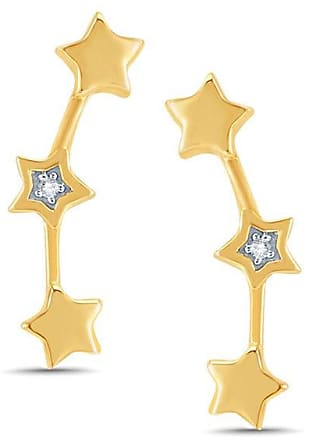 196563fff Zales Diamond Accent Triple Star Crawler Earrings in 10K Gold