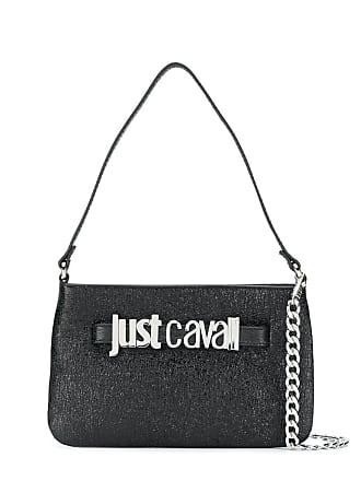 Just Cavalli Bolsa tote texturizada com logo - Preto