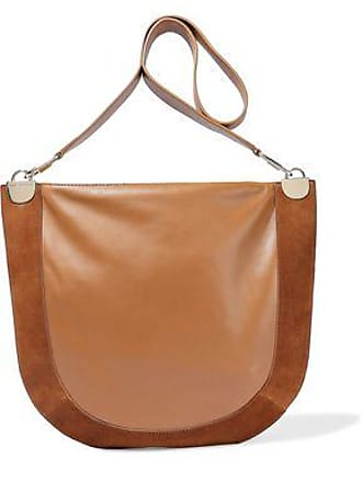 bed8820e1180a Diane Von Fürstenberg Diane Von Furstenberg Woman Moon Suede-paneled  Leather Shoulder Bag Light Brown
