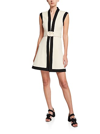 116925ac01 Sleeveless A-Line Dress w/ Tweed Skirt & Satin Bodice. Delivery: Delivery  costs apply. Gucci Belted Sleeveless Shift Dress