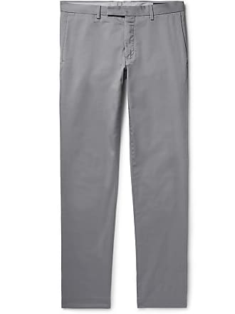 Polo Ralph Lauren Grey Slim-fit Stretch-cotton Twill Chinos - Gray