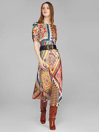 Etro Kleid Mit Patchwork-print, Damen, Multicolor, Größe 38