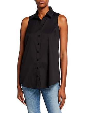 1b32fe56fbd650 Finley Shelly Button-Front Sleeveless Poplin Top with Button-Back