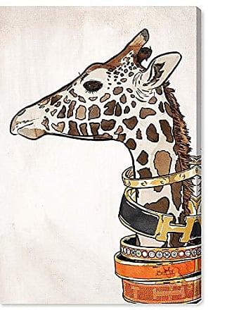 The Oliver Gal Artist Co. Oliver Gal Luxurious Giraffe The Wild Animals Wall Art Decor Collection Modern Premium Canvas Art Print