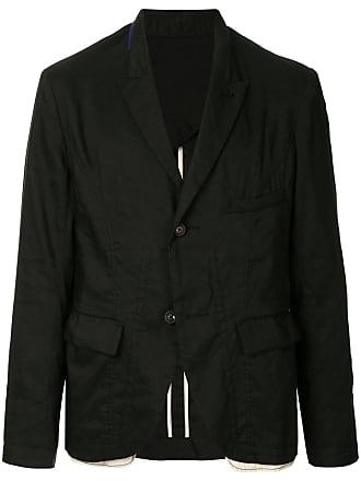 Ziggy Chen crinkle effect blazer - Black