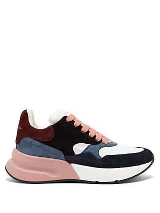 Alexander McQueen Alexander Mcqueen - Panelled Chunky Suede Trainers - Mens - Pink Multi