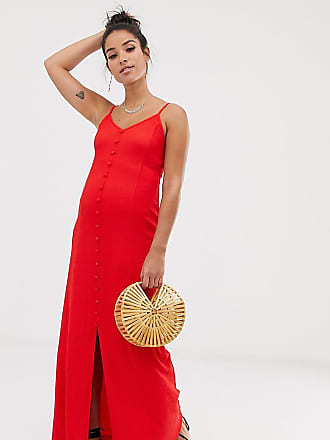 c528029cbf Asos Maternity ASOS DESIGN Maternity textured button through cami maxi dress