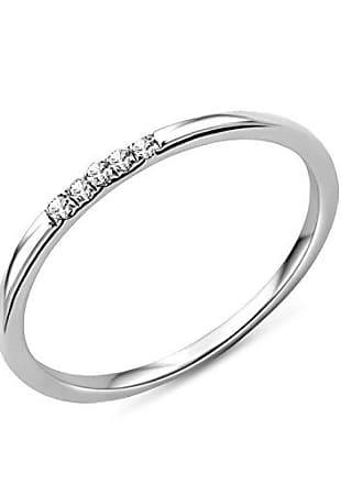 73a0e0456c3 Miore MP9013RP - Bague Femme - Or blanc 375 1000 (9 carats) 0.98