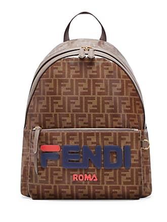 3329e1d043 Fendi Mens Fendi Mania Coated Canvas Backpack