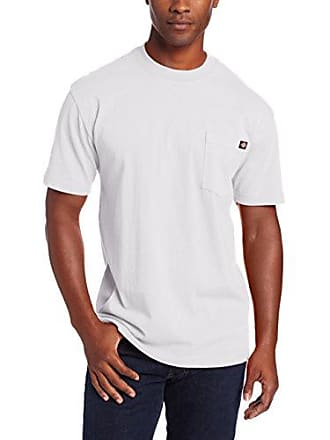 Dickies Mens Heavyweight Crew Neck Short Sleeve Tee Big-tall,White,3X-Large Tall