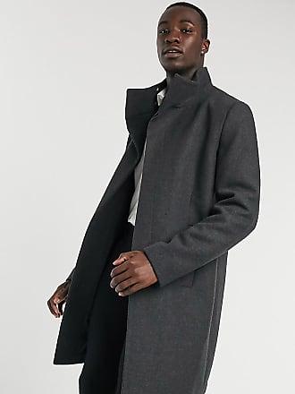 manteau homme cintré col cheminée