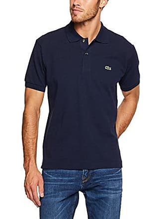 d6536d9e05298b Lacoste Mens L1212 Classic Fit Polo Shirt, Navy Blue, XS