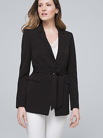 White House Black Market Womens All-Season Suiting Jacket With Removable Belt by White House Black Market, Black, Size 00
