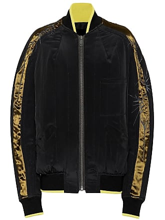 Haider Ackermann Silk crêpe bomber jacket