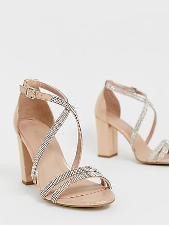 New Look rhinestone strapping detail sandal in rose gold - Gold