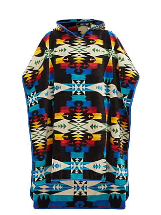 Pendleton Tucson Cotton Jacquard Poncho Towel - Mens - Blue Multi
