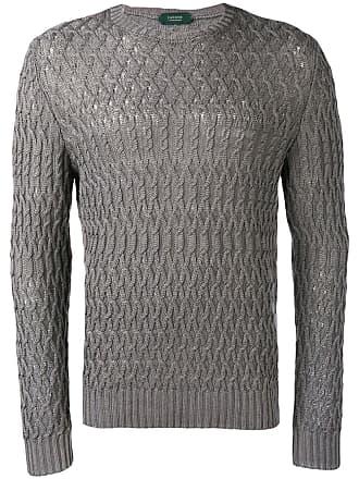 Zanone cable knit jumper - Grey