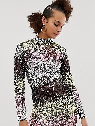 9f9fe8032dfd New Look long sleeve bodycon dress in multicoloured sequin - Multi