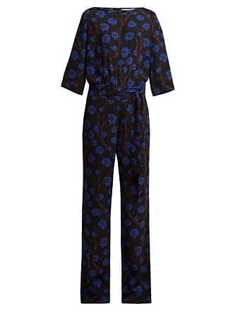 Diane Von Fürstenberg Gwynne Dragon Berry Print Jumpsuit - Womens - Black Print