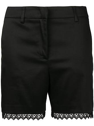 Blumarine embroidered appliqué shorts - Preto