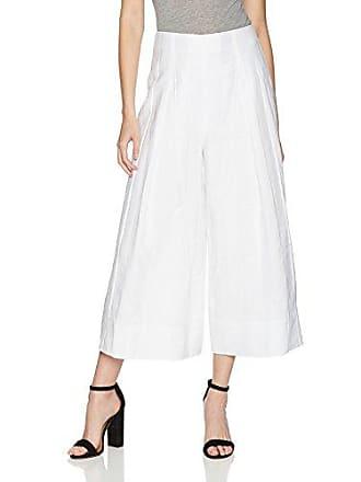 Kendall + Kylie Womens Shadow Stripe Wide-Leg Pant, Bright White, S