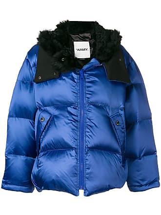 Yves Salomon - Army padded hooded jacket - Blue