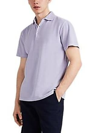 3e5b0a0f Barneys New York Mens Washed Cotton Polo Shirt - Violet Size L