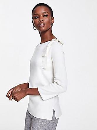 ANN TAYLOR Shoulder Bow Boatneck Sweater