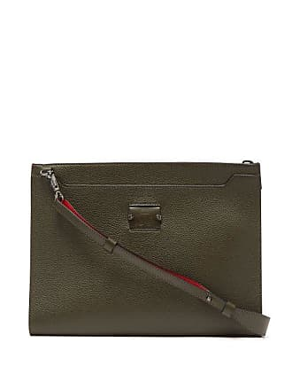 1d30c1dbef Christian Louboutin Skypouch Loubicity Stud Embellished Leather Pouch -  Mens - Khaki