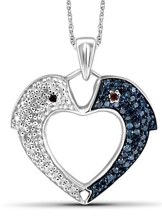 JewelersClub JewelersClub 1/4 Carat T.W. Multi-Color Diamond Sterling Silver Fish Heart Pendant