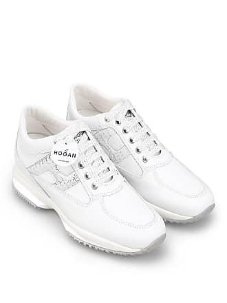 9b3fa444f8 Hogan WOMENS HXW00N0S361KJT0351 WHITE LEATHER SNEAKERS