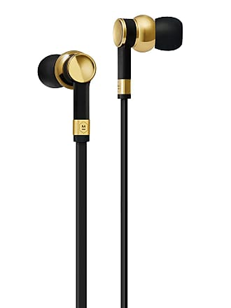 Master & Dynamic ME05 In-Ear Headphones, Brass Metal/Black Rubber