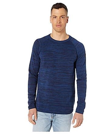 G-Star Core Straight Round Neck Long Sleeve Knit (Sartho Blue/Pacific) Mens Clothing