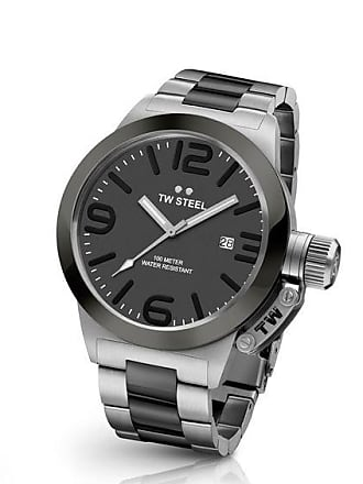 Zales Mens TW Steel Canteen Two-Tone Watch with Grey Dial (Model: Cb201)