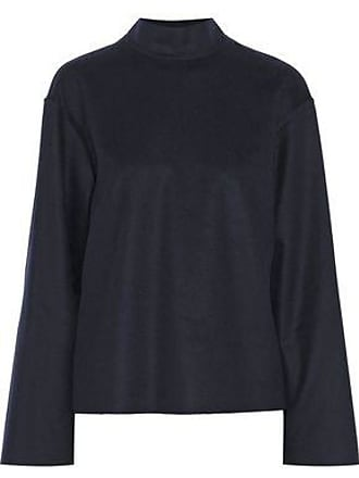 GOEN.J Goen.j Woman Wool And Cashmere-blend Sweater Navy Size S