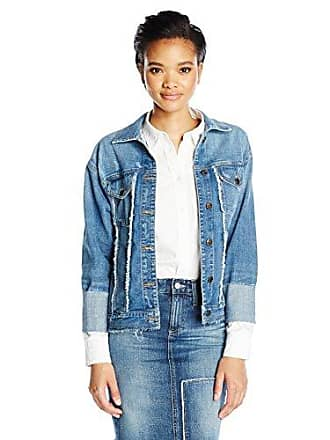 Joe's Womens Belize Frayed Detail Trucker Jacket, Yenz, L