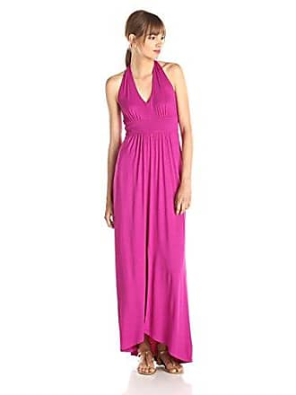 Three Dots Womens Halter Maxi Dress, Sparkling Sangria, Medium