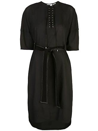 Yigal AzrouËl lace-up midi dress - Black